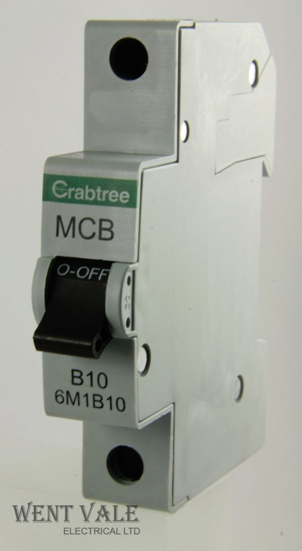 Crabtree Loadstar - 6M1B10 - 10a Type B Single Pole MCB Used